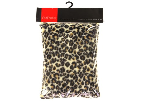 Faux fur pillow OCELOT cream 40x50 cm