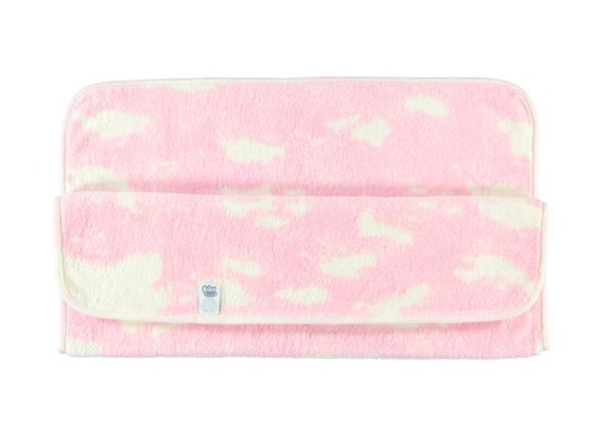PINK BABY BLANKET clouds