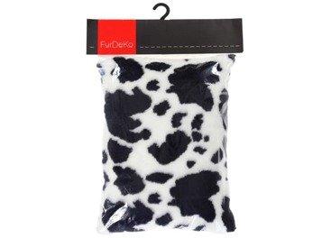 Faux fur pillow COW white 40x50 cm