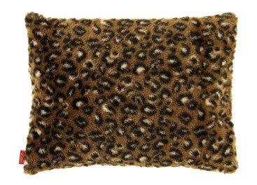 Faux fur pillow OCELOT brown 40x50 cm
