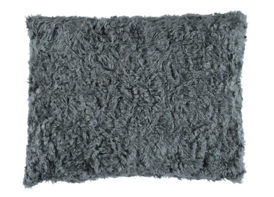 Futrzana poduszka dekoracyjna ASTER szary 40x50 cm