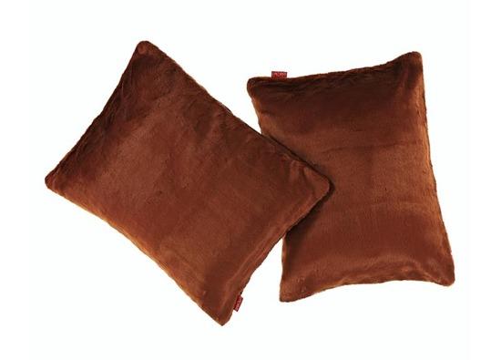 Futrzana poduszka dekoracyjna MINK rudy 40x50 cm