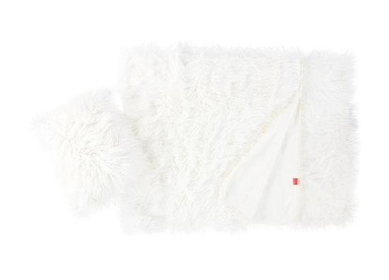Koc, narzuta LUMA biały 155x200 cm