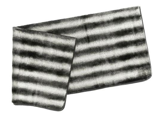 Koc, narzuta na łóżko, kanapę ROYAL CHINCHILLA szary 155x200 cm