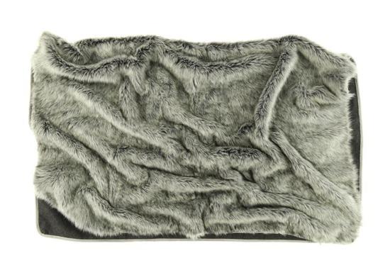Koc, narzuta na łóżko, kanapę SREBRNY TALIZMAN szary 150x200 cm