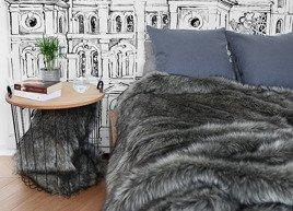 Decorative Faux Fur Set, Bedspread GRANDE PINI