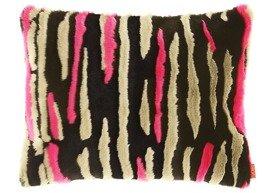 Decorative faux fur pillow NIGHT WAVES