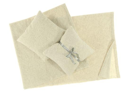 Decorative bedspread, blanket SLOW RODRIGUEZ beige 45x45 cm
