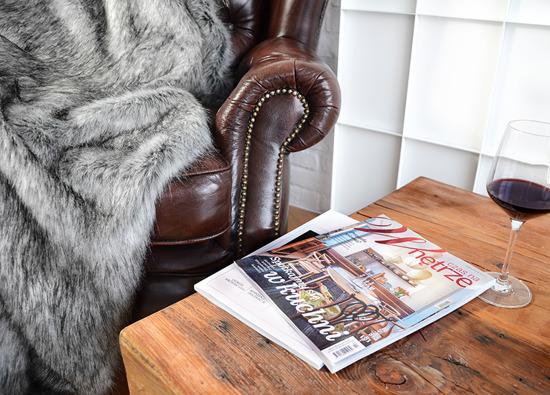 Decorative faux fur bedspread, blanket SILVER TALISMAN grey 150x200 cm