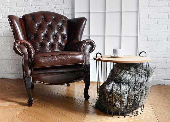 Decorative faux fur pillow GRANDE PINI brown grey