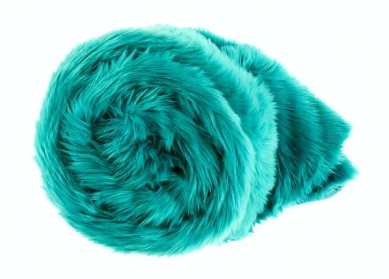 Decorative fur bedspread, blanket LAGUNA KALA turquoise 155x200 cm