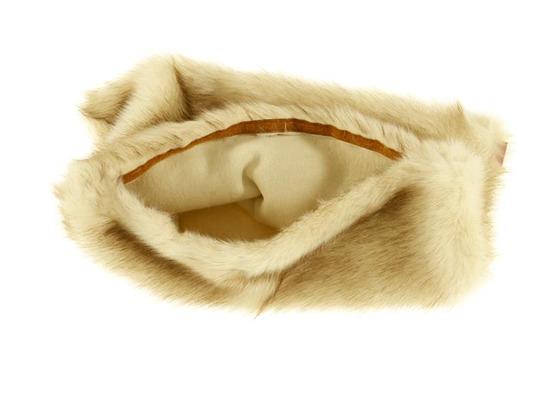 Decorative faux fur pillow FOXY