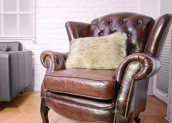 Decorative faux fur pillow GRANDE PINI