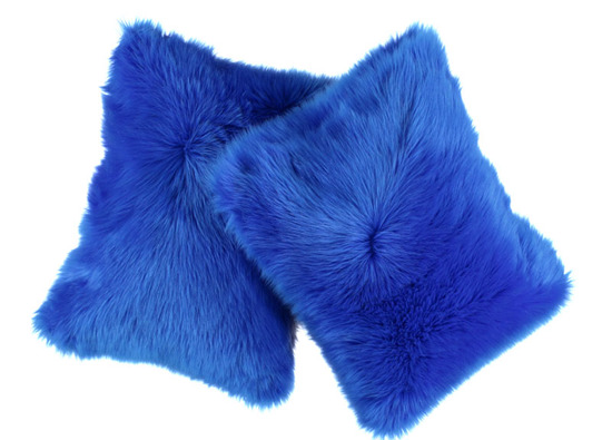 Faux fur pillow SHAGGY blue 40x50 cm