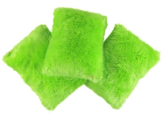 Faux fur pillow SHAGGY green 40x50 cm