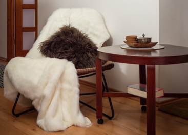 Decorative faux fur bedspread ANGELO