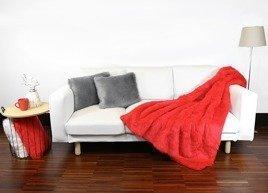 Komplet dekoracyjny futrzana narzuta FIRE JAZZ i dwie poduszki CZUPER