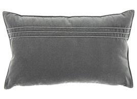 Poduszka Szara dekoracyjna z aksamitu JULIA