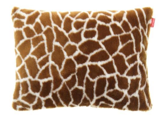 Futrzana poduszka dekoracyjna ŻYRAFA