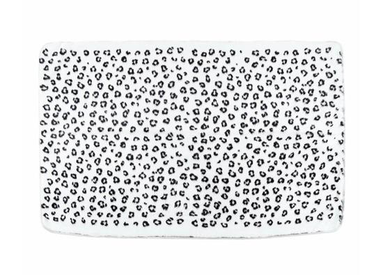 Koc, narzuta OCELOT ecru, czarny 95x155 cm