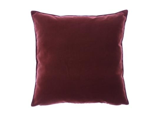 Poduszka z aksamitu ROMEO bordowy 45x45 cm